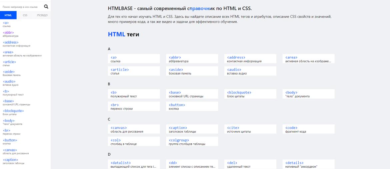 Современный справочник по html и css